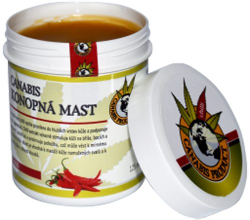 Canabis Product konopná mast s chilli 250 ml