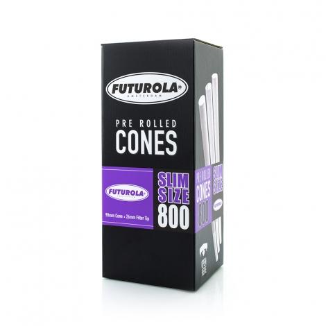 Slim Size dutch brown PRE-ROLLED Cones 800ks FUTUROLA