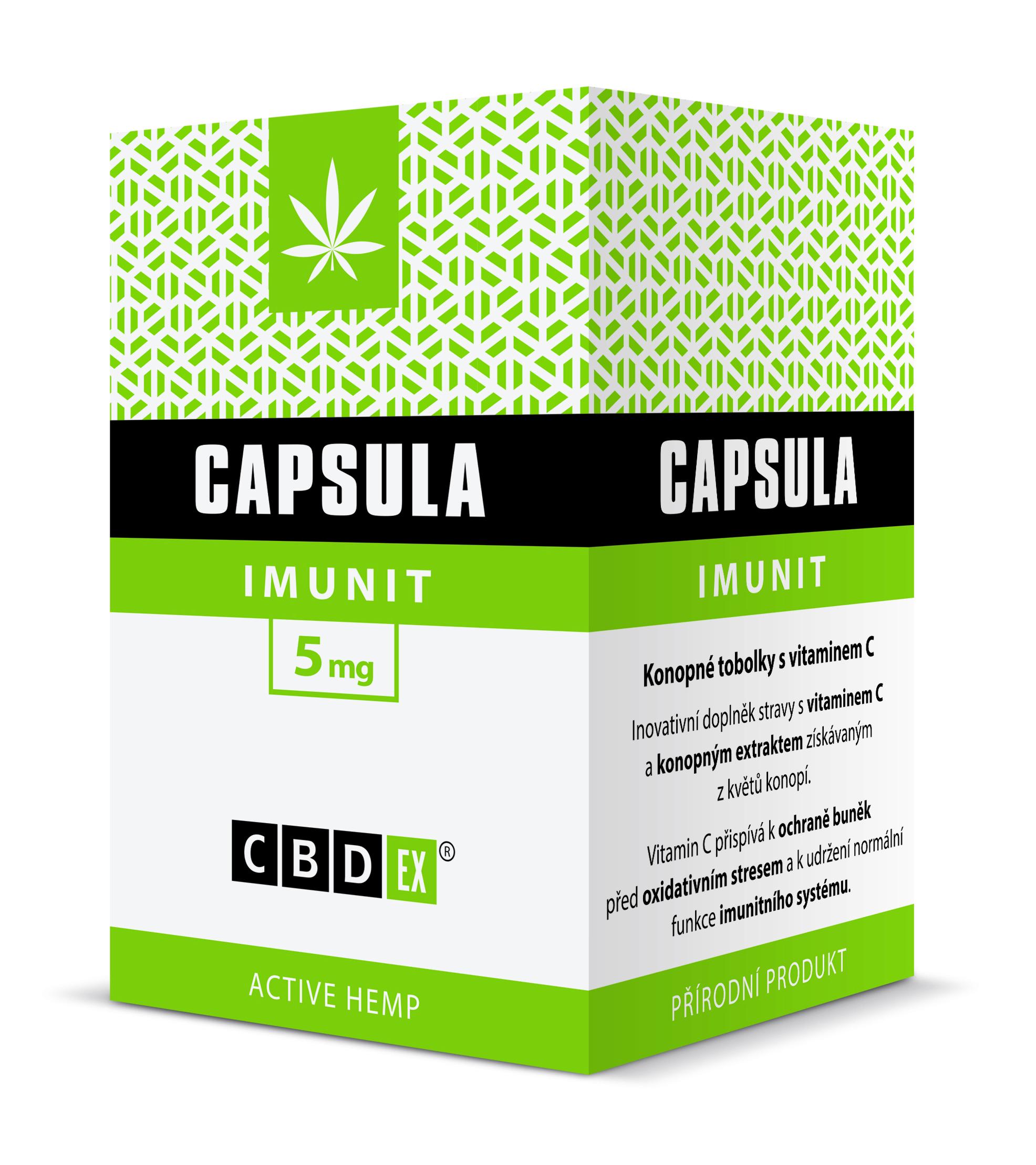 CBDex CBD Capsula Imunit 60 tobolek