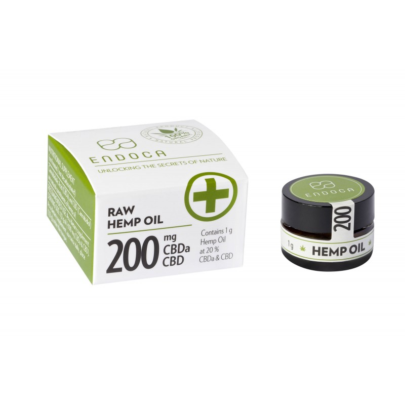 CBD konopná pasta RAW 20% 200mg CBDa+CBD 1g ENDOCA