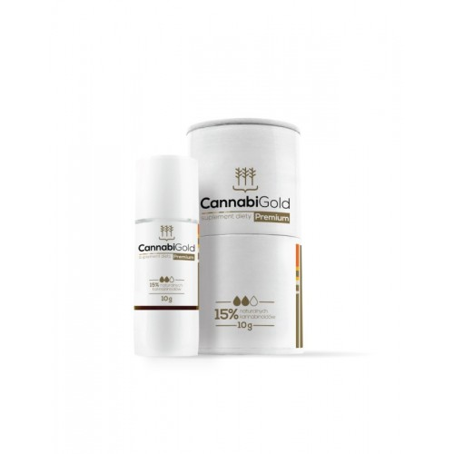 CBD olej 15% PREMIUM zlatý 10g CannabiGold
