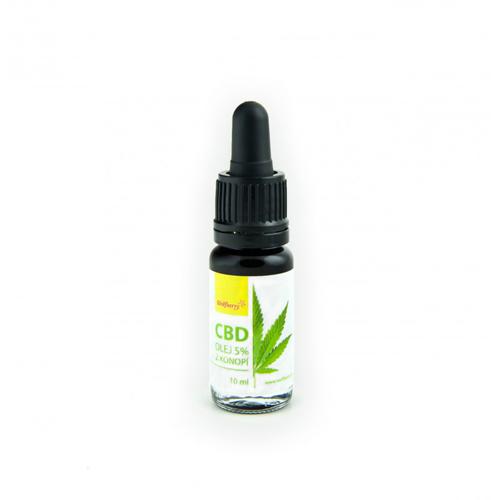 CBD konopný olej 5% 10ml Wolfberry