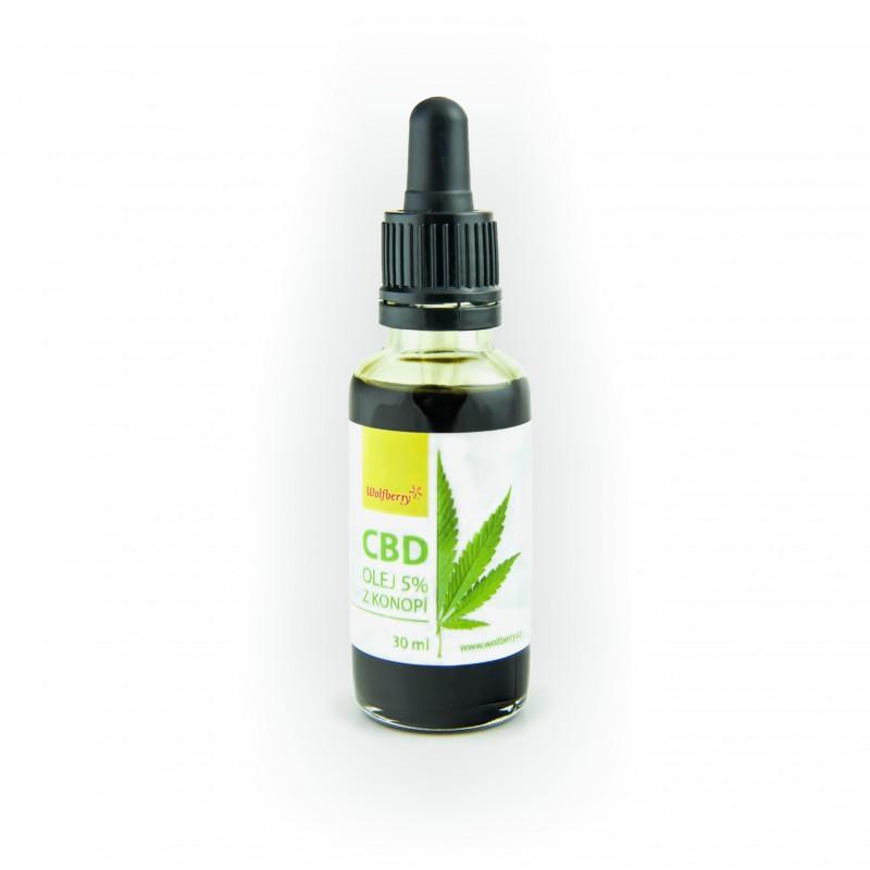 CBD konopný olej 5% 30ml Wolfberry