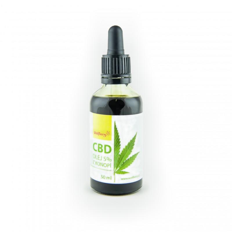 CBD konopný olej 5% 50ml Wolfberry