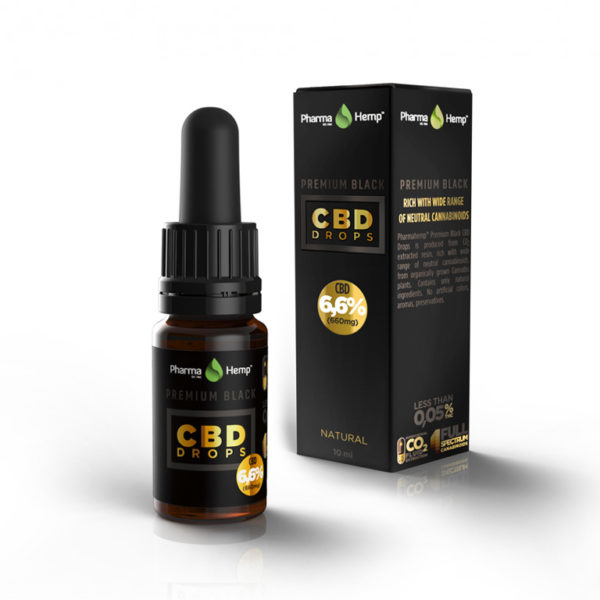 CBD Drops PREMIUM BLACK 6,6% 10ml Pharma Hemp