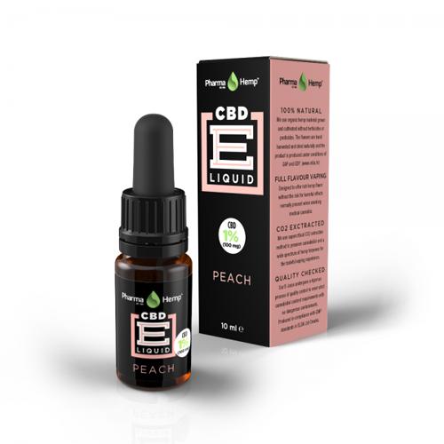 CBD e-liquid 1% 10ml broskev Pharma Hemp