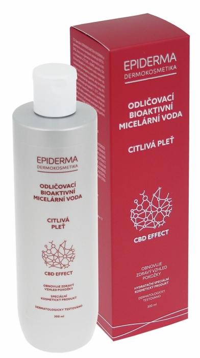EPIDERMA bioaktivní CBD micerální odličovací voda 300ml