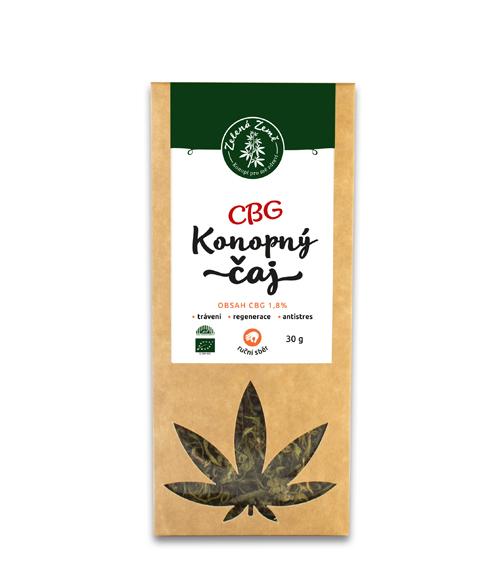 CBG konopný čaj 1,8% 30g Zelená Země