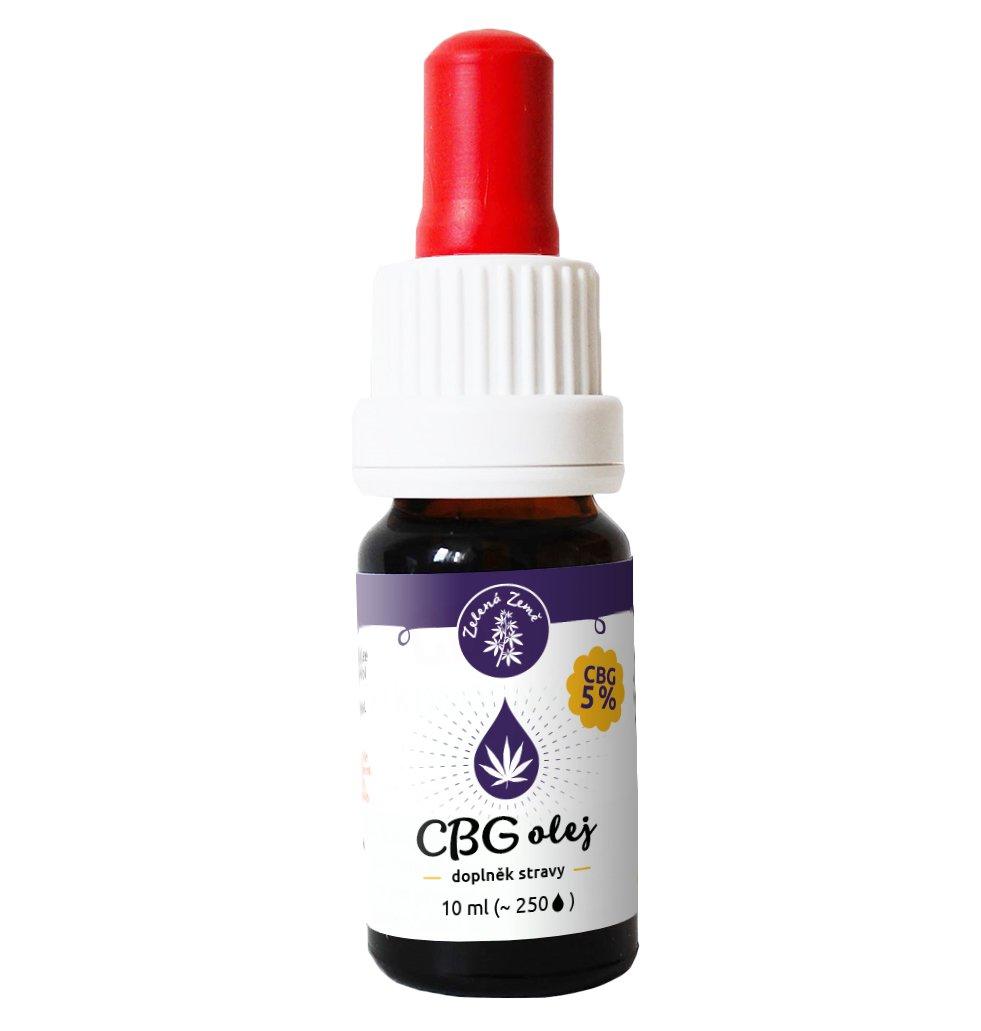 CBG Konopný olej 5% 10ml BIO Zelená Země