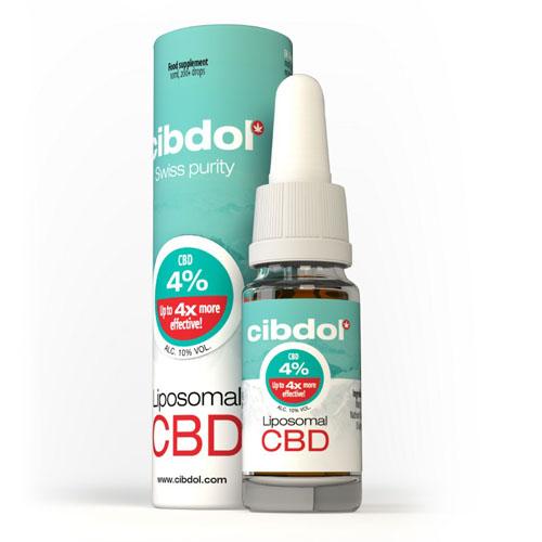 Lipozomální CBD olej 4% 400mg 10ml Cibdol