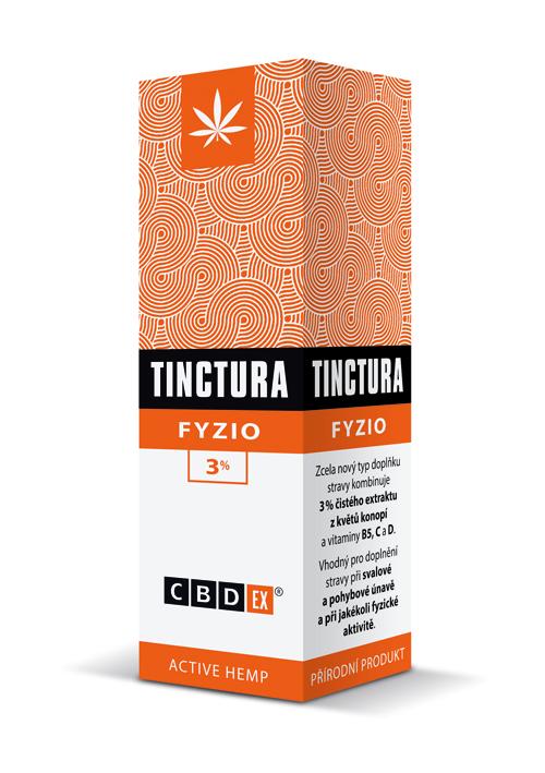 CBDex CBD Tinctura Fyzio 3% 20ml