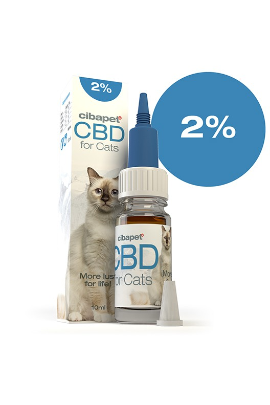 CBD olej pro kočky 2% 200mg 10ml Cibapet