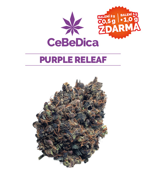 CBD květy Purple Releaf 2g CeBeDica