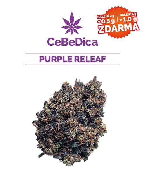 CBD květy Purple Releaf 5g CeBeDica