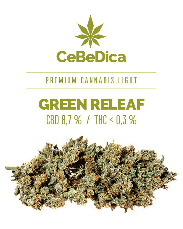 CBD květy Green Releaf 2g CeBeDica