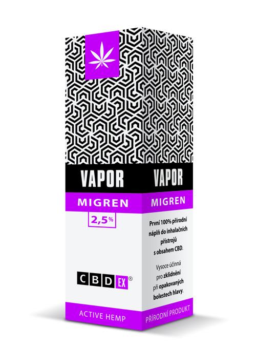 CBDex CBD Vapor Migren 2,5% 20ml