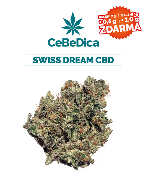 CBD květy Swiss Dream 5g CeBeDica