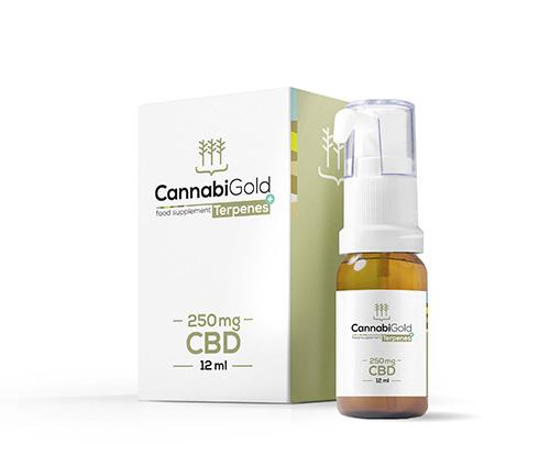 Cannabigold Terpenes CBD a terpeny v oleji 250 mg 12ml