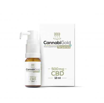 Cannabigold Terpenes CBD a terpeny v oleji 500 mg 12ml