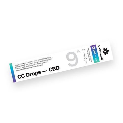 Kapky CC Drops s CBD 9% 7ml CannaCare