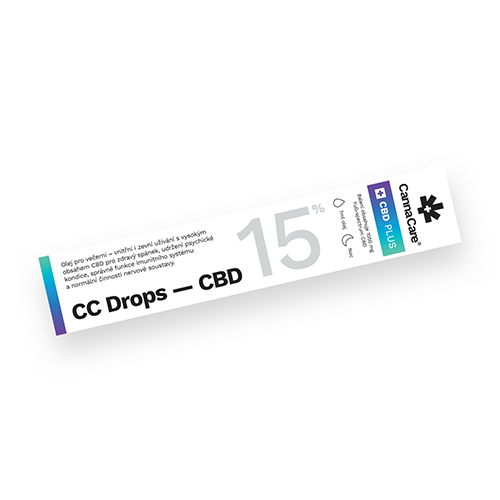 Kapky CC Drops s CBD 15% 7ml CannaCare
