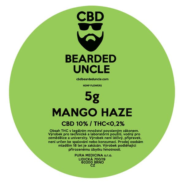 CBD květy weed MANGO HAZE 5g BEARDED UNCLE