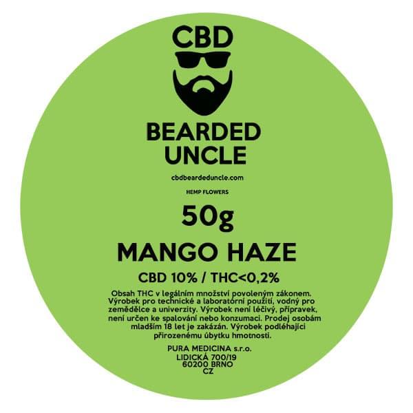 CBD květy weed MANGO HAZE 50g BEARDED UNCLE