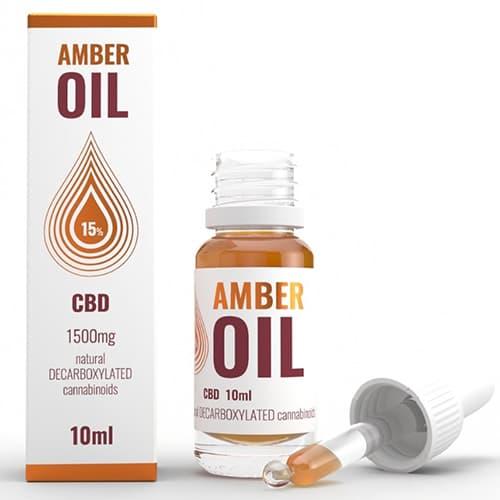 CBD konopný olej 15% 1500mg 10ml Amber Oil