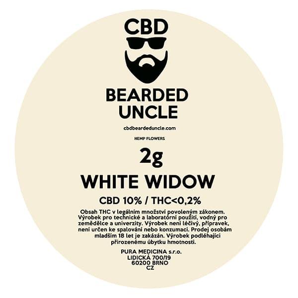 CBD květy weed WHITE WIDOW 2g BEARDED UNCLE