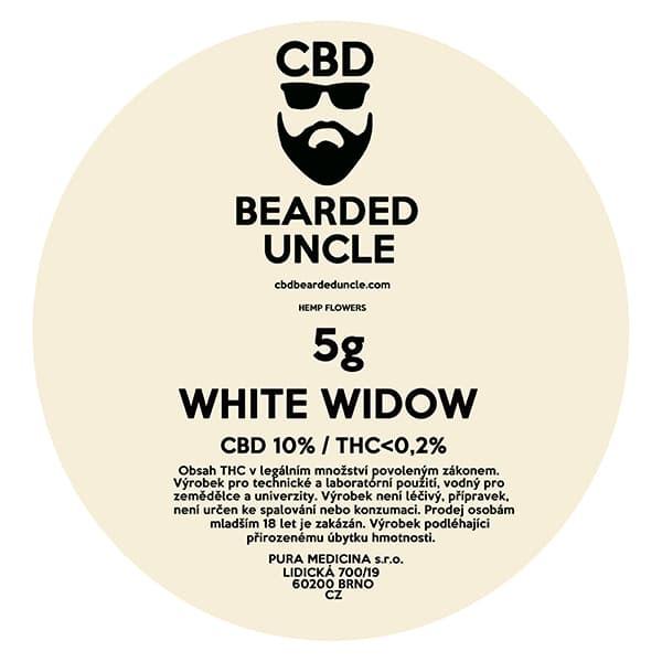 CBD květy weed WHITE WIDOW 5g BEARDED UNCLE