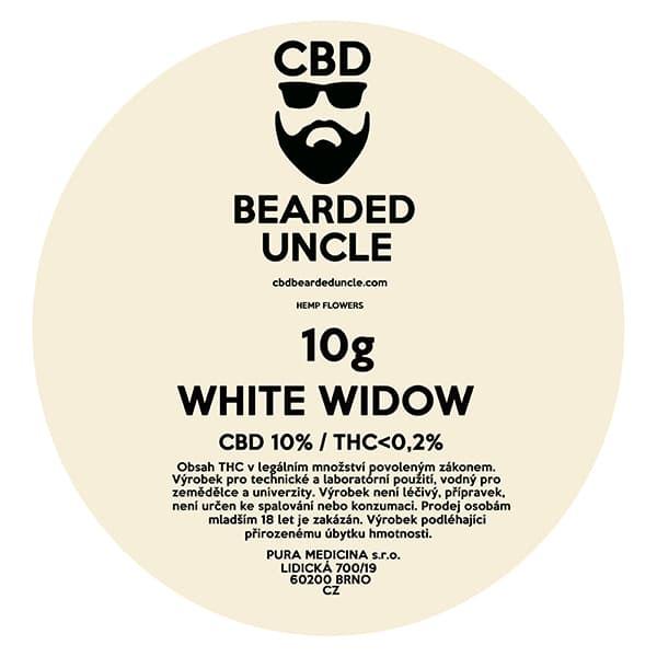 CBD květy weed WHITE WIDOW 10g BEARDED UNCLE