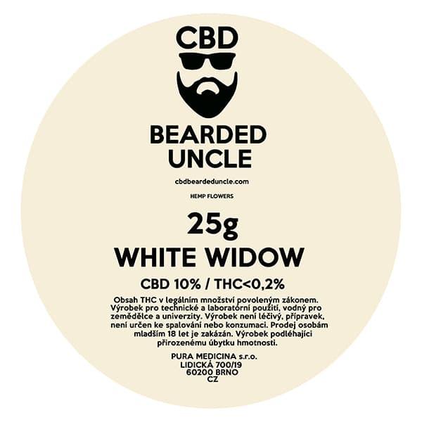 CBD květy weed WHITE WIDOW 25g BEARDED UNCLE