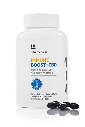 Immune Boost + CBD kapsle 30ks USA MEDICAL