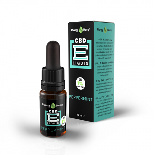 CBD e-liquid 1% 10ml máta Pharma Hemp