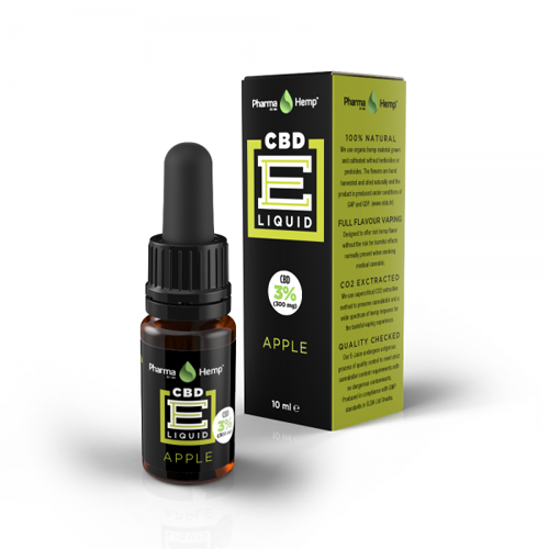 CBD e-liquid 3% 10ml jablko Pharma Hemp