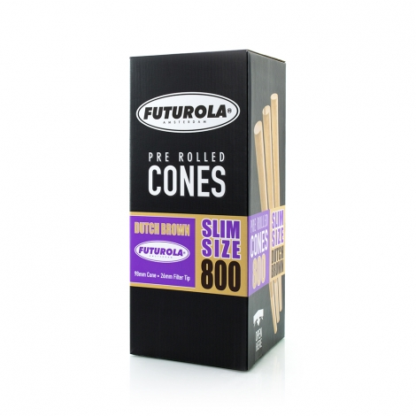Slim Size dutch brown PRE-ROLLED Cones 800ks FUTUROLA