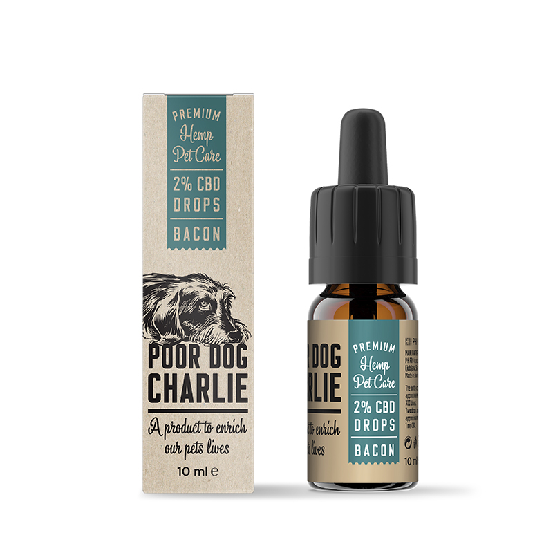 POOR DOG CHARLIE CBD kapky slanina 2% 10ml Pharma Hemp