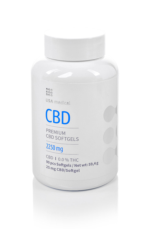 CBD kapsle 2250mg USA MEDICAL