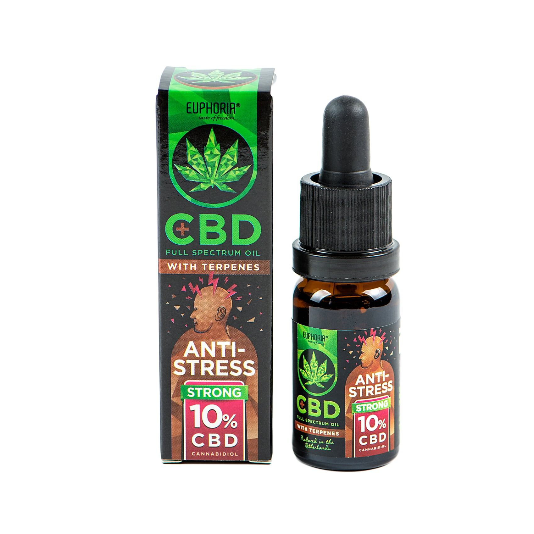 Euphoria CBD olej 10% s terpeny 10ml 1000mg ANTI-STRESS