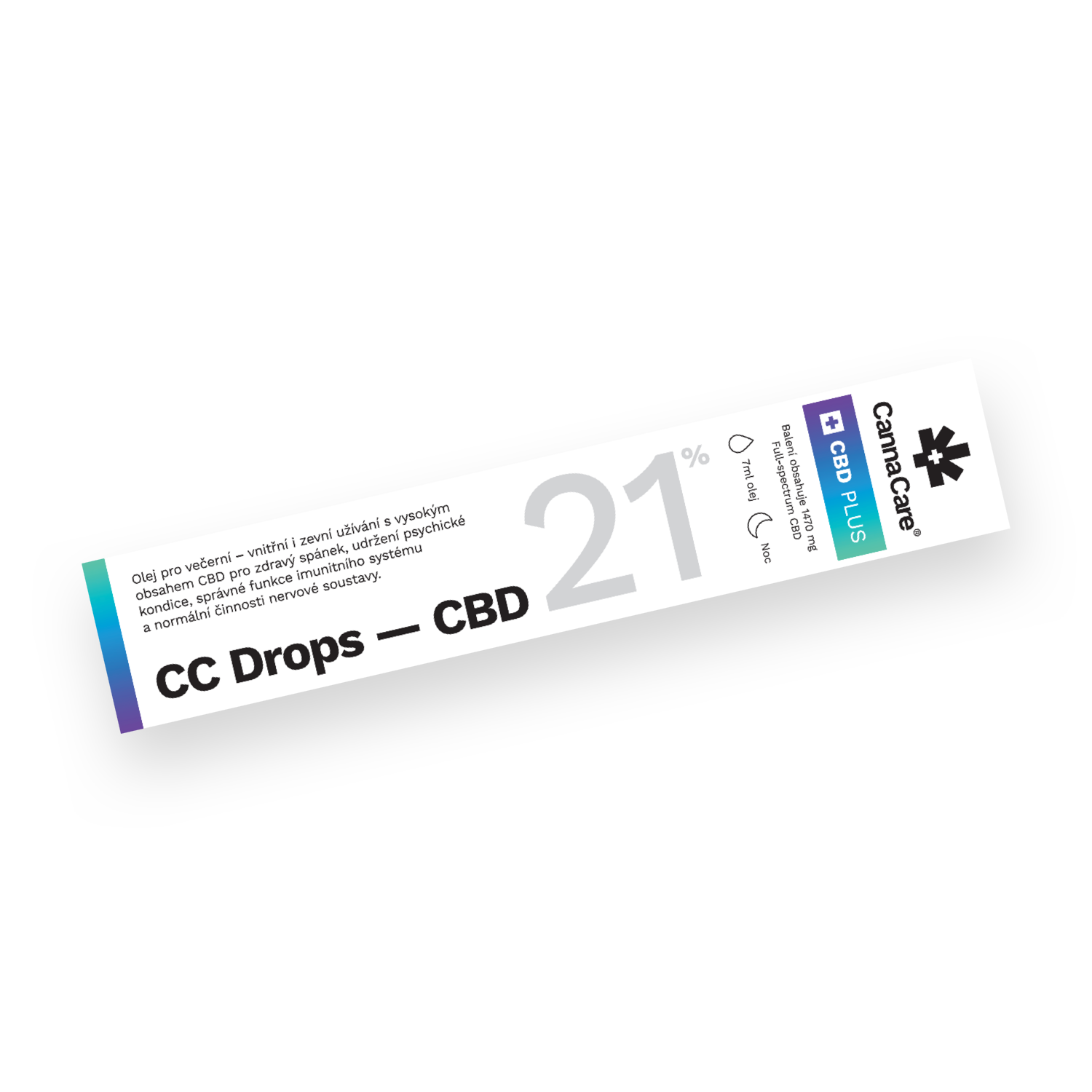 Kapky CC Drops s CBD 21% 7ml CannaCare