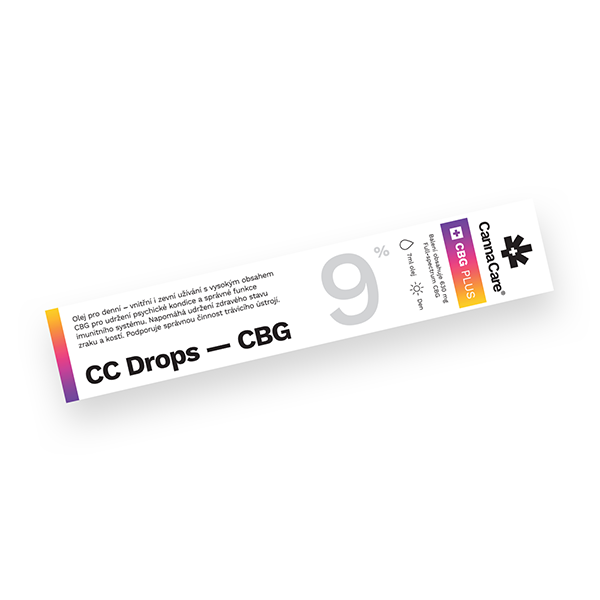 Kapky CC Drops s CBG 9% 7ml CannaCare