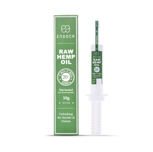 CBD RAW konopná pasta 20% 2000mg 10ml CBD+CBDa ENDOCA