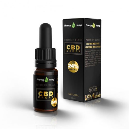 CBD Drops PREMIUM BLACK 24% 10ml Pharma Hemp