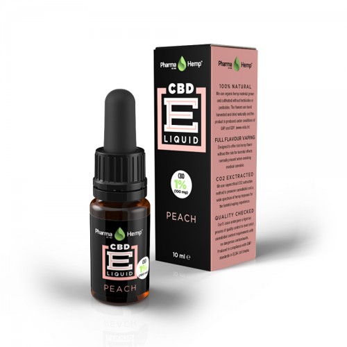 CBD e-liquid 1% 10ml broskev Pharma Hemp