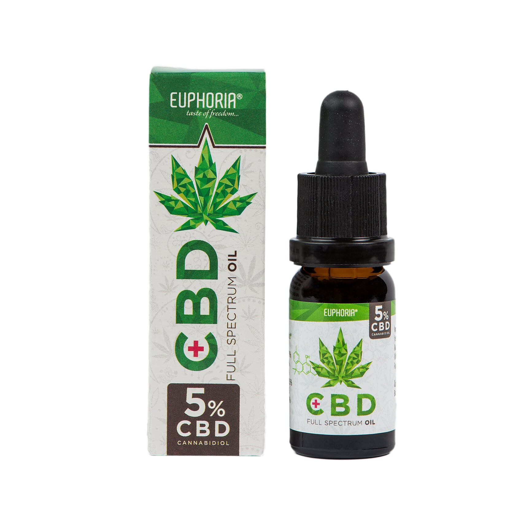 CBD konopný olej full spectrum 5% 500mg 10ml Euphoria