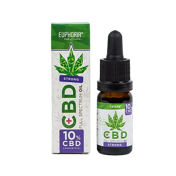 CBD konopný olej full spectrum 10% 1000mg 10ml Euphoria