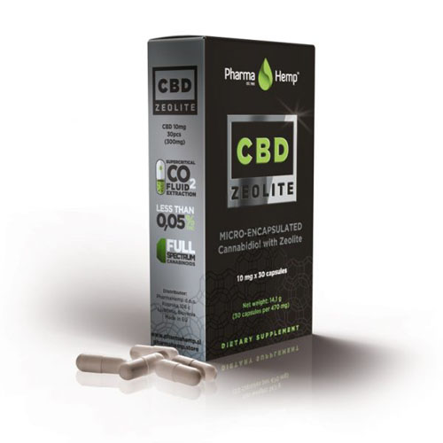 CBD kaplse zeolite 300mg 10mg 30ks Pharma Hemp