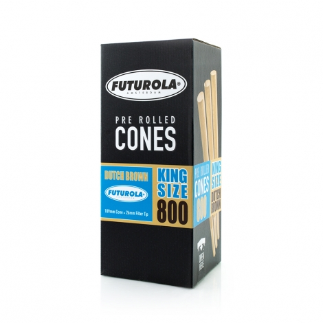 King Size dutch brown PRE-ROLLED Cones 1000ks FUTUROLA