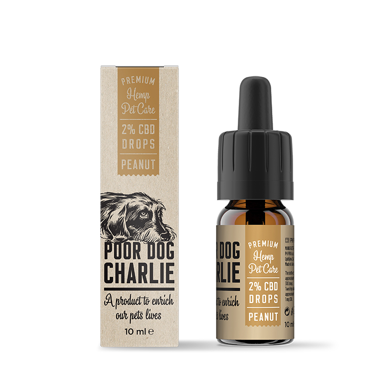 POOR DOG CHARLIE CBD kapky arašíd 2% 10ml Pharma Hemp