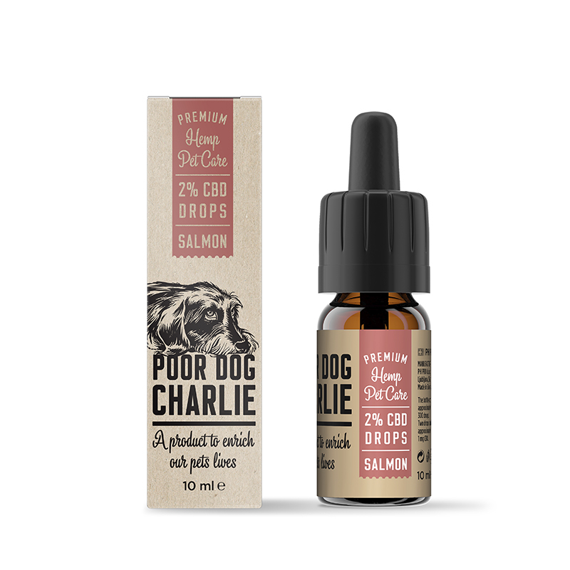 POOR DOG CHARLIE CBD kapky losos 2% 10ml Pharma Hemp